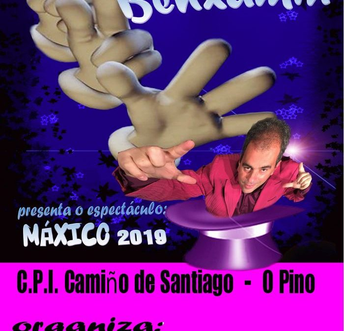 O Mago Benxamín visita o C.P.I. Camiño de Santiago o vindeiro 11 de abril