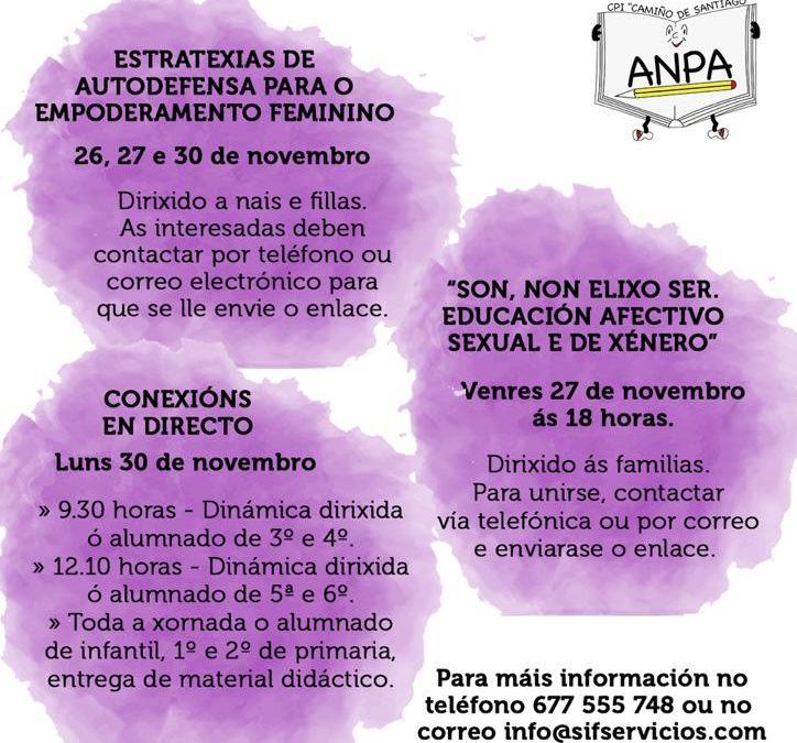 A ANPA organiza unhas xornadas para promover a igualdade e previr a violencia de xénero