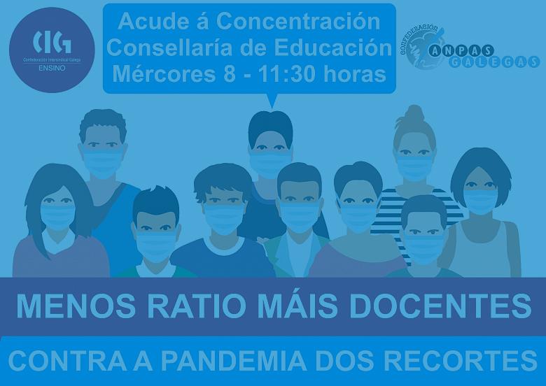 A Confederación de ANPAS Galegas invita a acudir á manifestación do mércores en defensa do ensino público